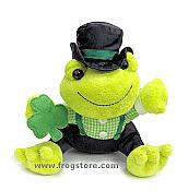 Shamrock Irish Plush Frog