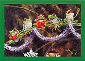 Sing With Joy Frog Christmas Cards, box of 10