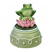 Music-Box Frog Figurine