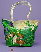 Sequined Canvas Frog Tote