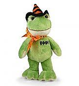 Boo! Plush Halloween Frog