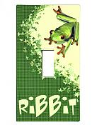 """RiBBiT"" Treefrog Light Switch Cover Sticker"