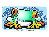 Mini Treefrog Mylar Sticker