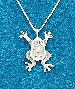 Fun Frog Sterling Necklace