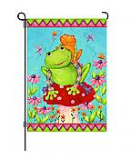 Mushroom Frogs Small Flag