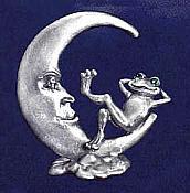 Pewter Relaxing Lunar Frog