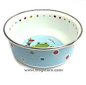 Country Frog Enamelware Bowl with Lid