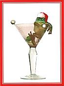 """Cheers!"" Frog Christmas Cards, box/12"