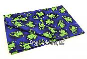 Funny Frogs Blue Pillowcase