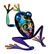 Leaping Blue Rainbow Frog