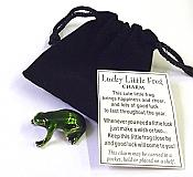 Green Pewter Miniature Lucky Frog