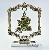 Green Crystal Frog Trophy Award