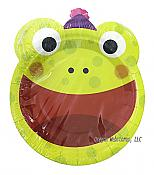 Happy Frog Face Party Plates, pk/12