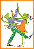 Dancing Frogs Anniversary Card