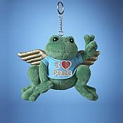 Angel Peace Frog Plush Ornament