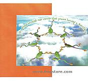 Skydiving Birthday Frog Card