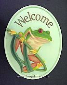Tree Frog Welcome Sign