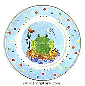 Country Frog Enamelware Plate