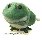 Fuzzy Frog Hopper Windup Toy