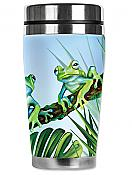 Mugzie Green Frogs Travel Mug