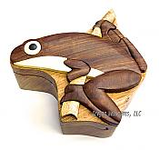 Tree Frog Wooden Puzzle Box