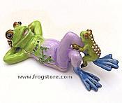Frog w/ Baby Enamel & Crystal Box