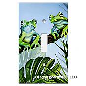 Green Jungle Frogs Single Switchplate