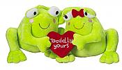 Toadally Yours Plush Frog Couple