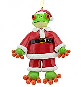 Froggy Santa Ornament