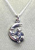 Frog Moon Sterling Necklace