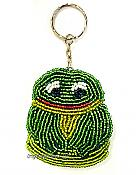 Beaded Frog Key Ring