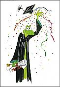 """Hats off to the graduate!"" Frog Card"