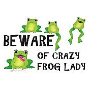 """Crazy Frog Lady"" T-Shirt"